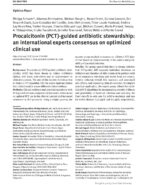11 Procalcitonin guided antibiotic stewardship an international experts consensus on optimized clinical use