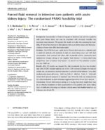 18 Forced fluid removal in intensive care patients with acute