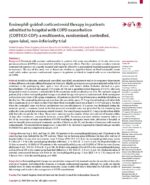 8 Eosinophil-guided corticosteroid therapy in patients admitted to hospital with COPD